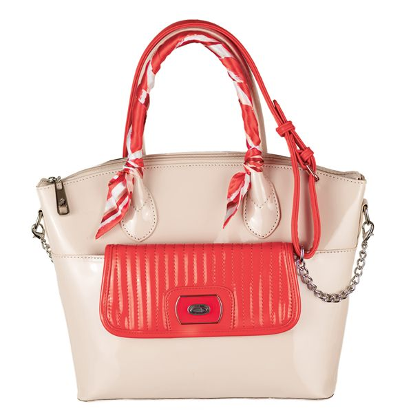 Grace Adele eye-catching coral color in the spring handbag collection